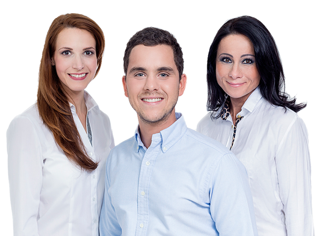 In the ArtDent dentistry consultation room dr. Artúr Varajti, dentist and oral surgeon is standing beside the patient and the assistant.